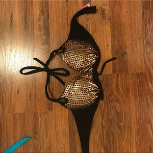 CS 36 D push up halter bikini top
